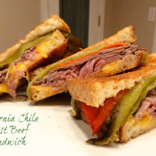 California Chile Roast Beef Sandwich.