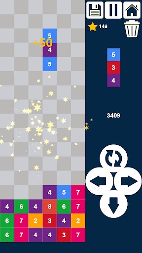 Drop n Merge Numbers: Match 3 Block Puzzle Varies with device de.gamequotes.net 5