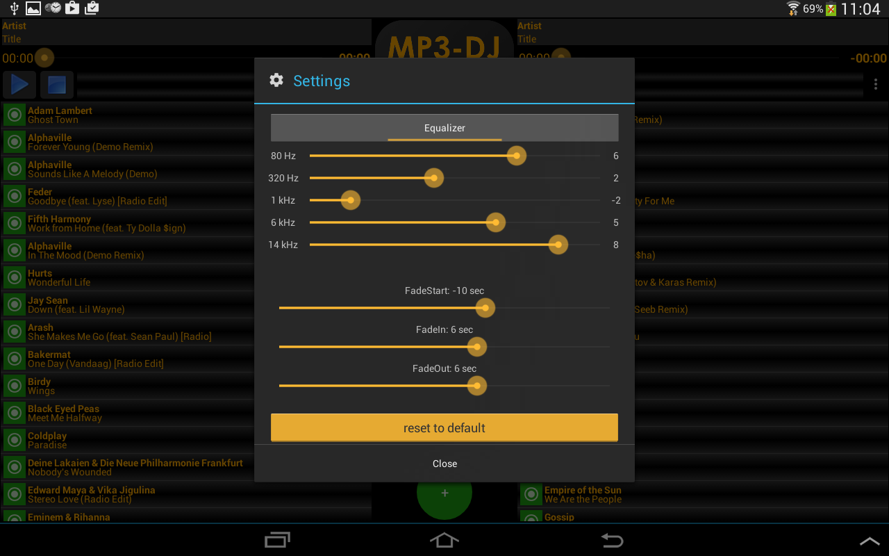 MP3-DJ the MP3 Player- screenshot
