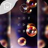 Colorful bubbles theme