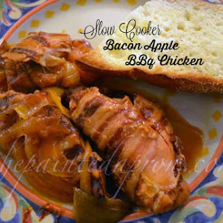Take-out Tuesday, Slow Cooker Bacon Apple BBQ Chicken