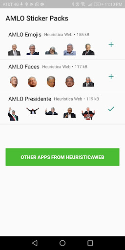 AMLO Stickers 1.0.9 screenshots 1
