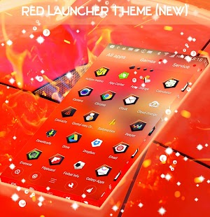 Red Launcher Theme (New) - náhled