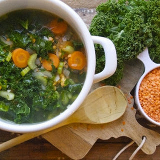 Red Lentil and Kale Soup