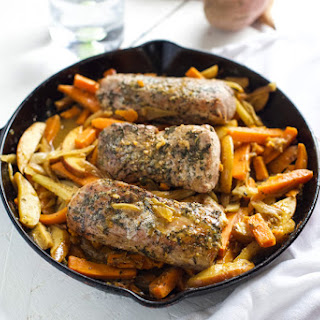EASY ONE POT PORK WITH APPLES, FENNEL AND YAMS
