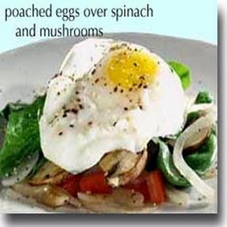 Crab over Spinach and Mushrooms