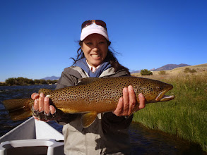 Photo: Mamie Chow Sheen on the Madison River