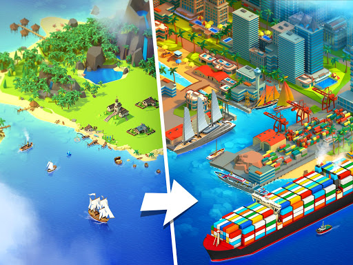 Sea Port: Cargo Ship & Town Build Tycoon Strategy 1.0.125 screenshots 1