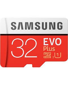 Samsung 32GB EVO Plus microSDHC 95 MB/s UHS-I U1 Class 10 Memory Card with SD Adapter
