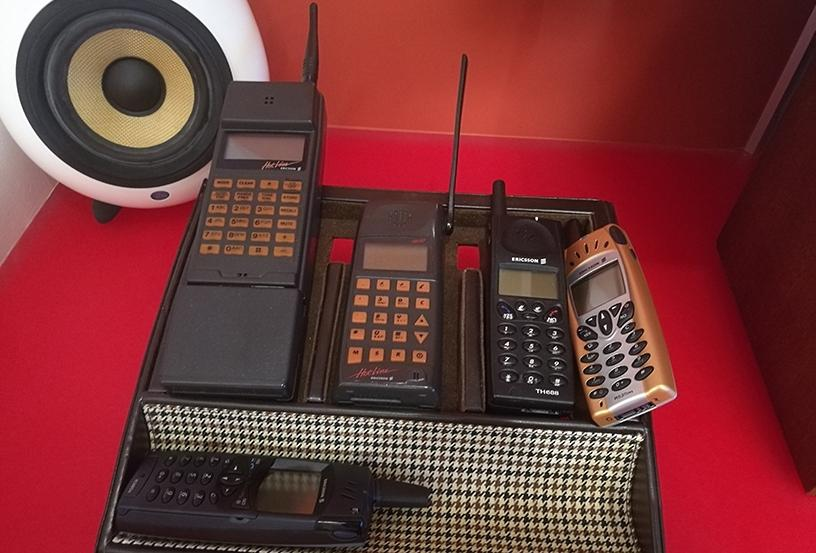 While some may have forgotten that Ericsson used to manufacture mobile phones, the centre has examples of the different devices.