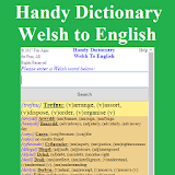 Handy Dictionary Welsh to English