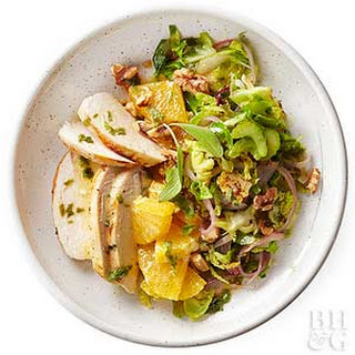 Warm Brussels Sprouts Salad with Chicken Recipe