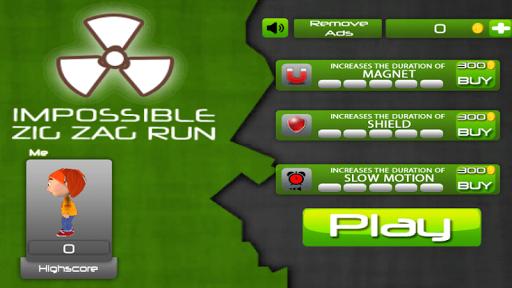Impossible Zig Zag Run