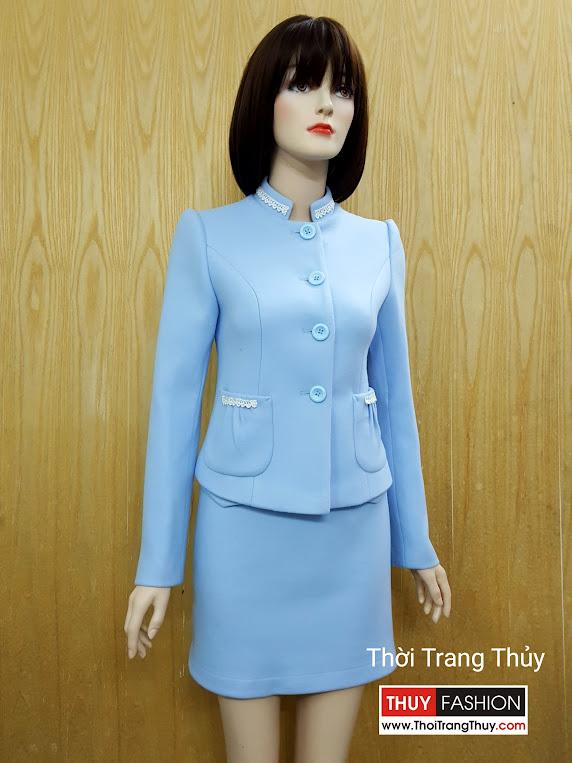 Áo khoác nữ thu đông dáng ngắn phối ren V507 Thời Trang Thuỷ