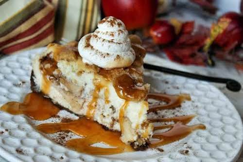 """Apple Pie Stuffed Cheesecake""""No, you are not dreaming. This is really a..."""