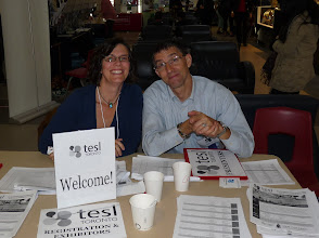 Photo: Day 2 - Karen and Chris at registration