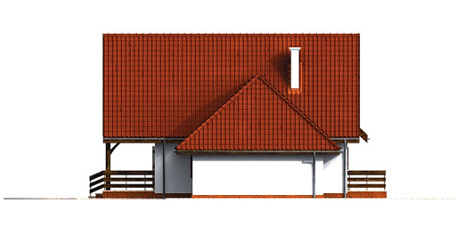 Dom przy Grabowej - Elewacja lewa