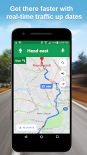 Maps GPS Navigation Route Directions Location Live Screenshot
