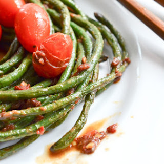 Long Green Beans with Anchovies and Sriracha Recipe