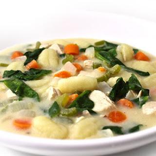 Olive Garden Chicken Gnocchi Soup Made Skinny.