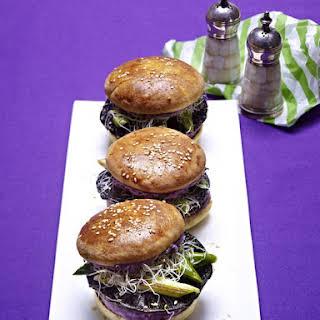Mushroom Burgers With Mashed Potatoes.