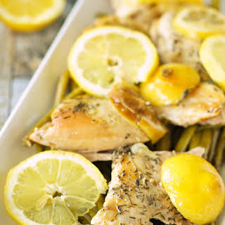 Slow Cooker Lemon Pepper Chicken with Asparagus.