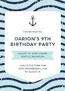 Darion's 9th Birthday - Birthday Card item