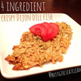 Four-Ingredient Crispy Dijon Dill Fish