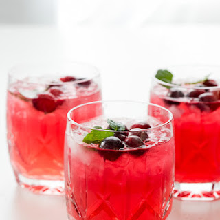 Sparkling Cranberry Vodka Punch.