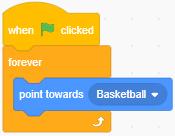 Scratch 3.0: Ví dụ lệnh point forwards