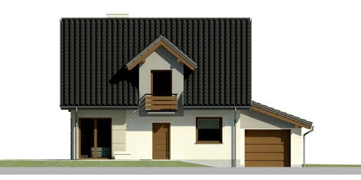 Dom przy Wiosennej 3 - Elewacja przednia