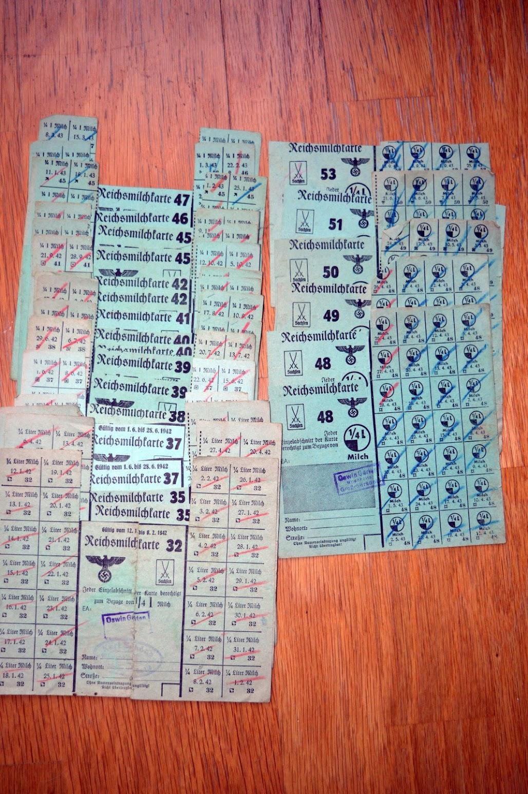 Lebensmittelkarte  Reichsmilchkarte