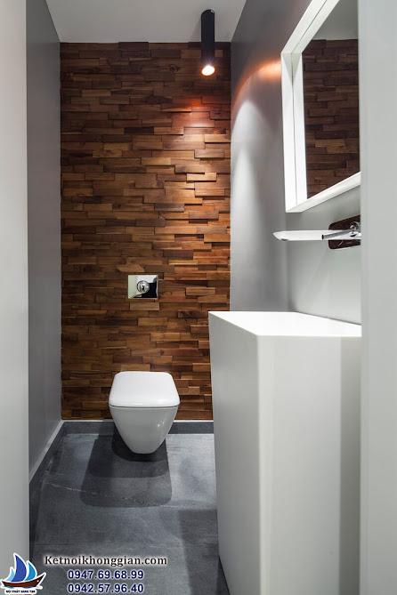 thiết kế căn hộ với phòng tắm nhỏ