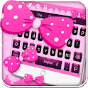 Pink Bow Keyboard Theme icon