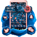 Blue Pink Rose Launcher Theme icon