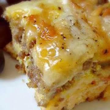 Sausage Egg Biscuit Casserole