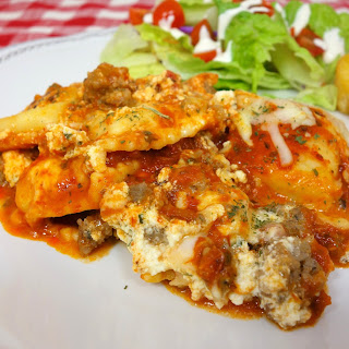 No-Boil Ravioli Lasagna