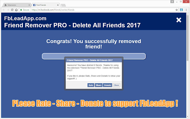 Facebook Friend Remover PRO 2017