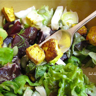 Summer Salad with Roasted Turmeric Tofu