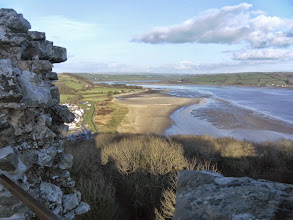 Photo: Looking back up the Towy