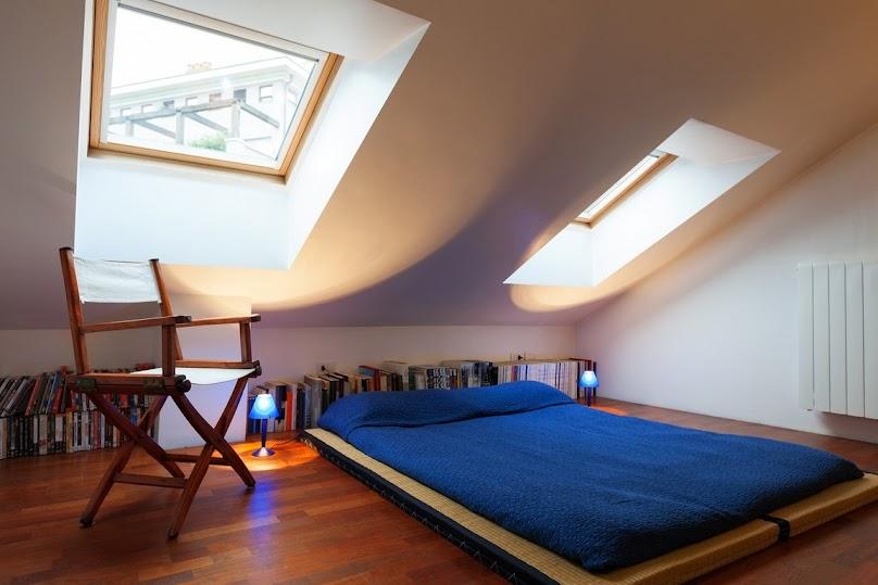 Sypialnia urządzona minimalistycznie