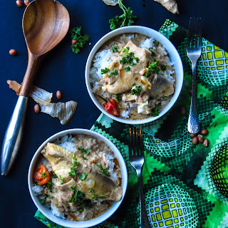 West African Peanut Soup with Tilapia.