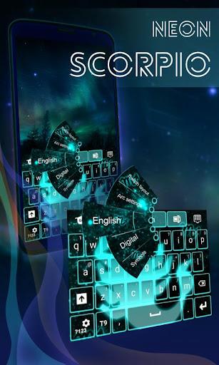 Neon Scorpio Keyboard