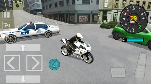 Police Motorbike Driving Simulator apktram screenshots 4