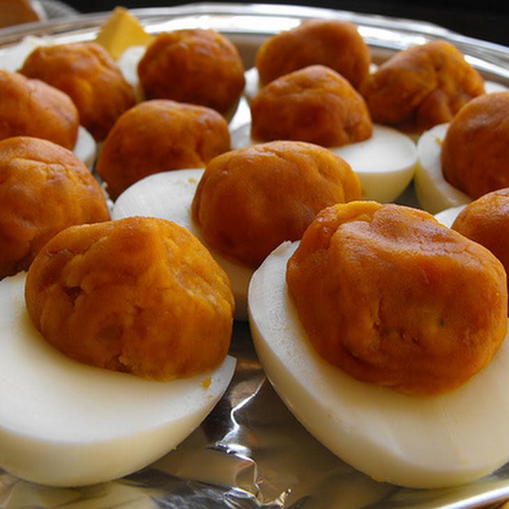 Smoked Sausage Deviled Egg Filling Recipe