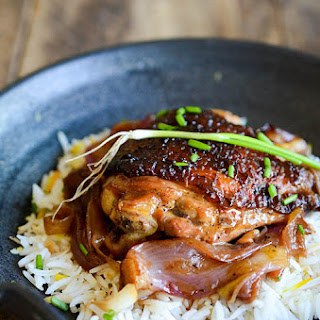 Korean Chicken Braised in Soy Ginger Lemon Sauce