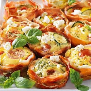 Prosciutto and Zucchini Pies Recipe