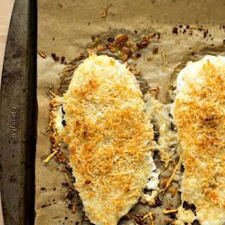 Healthy Parmesan Crusted Chicken.