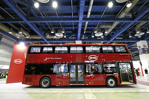 New energy: A BYD Automobile Company double-decker electric bus. The company almost single-handedly electrified Shenzhen's fleet of 16,000 buses. Picture: BLOOMBERG