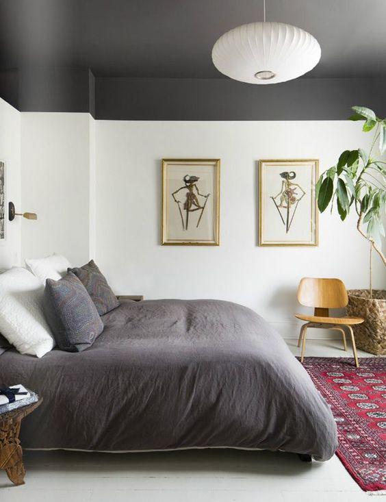 Gray Statement Bedroom Ceiling